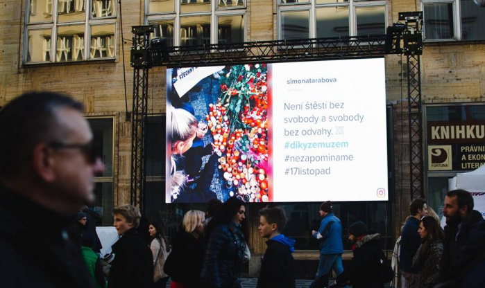 Led obrazovka pronájem Praha
