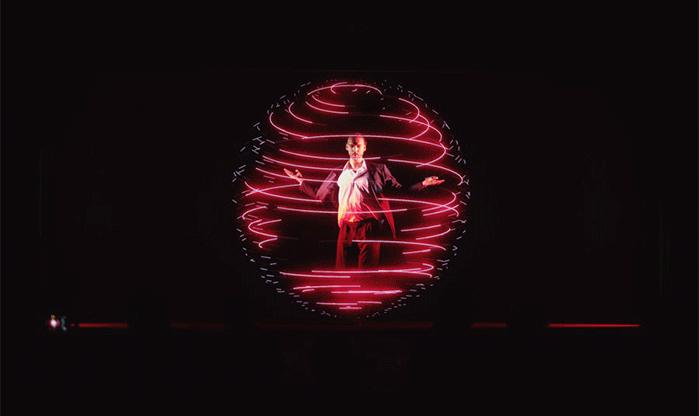 Holographische 3D-Bühne